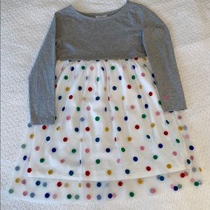Hanna Andersson Tulle polka dot dress in Size 120